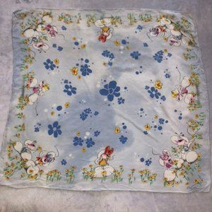 Mother Goose Silk Square Scarf
